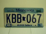2003 MINNESOTA Explore 10,000 Lakes License Plate KBB 067