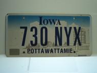 IOWA License Plate 730 NYX