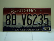2008 IDAHO Famous Potatoes License Plate 8B V6235