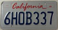 CALIFORNIA Lipstick License Plate 6HOB337
