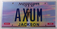 Mississippi Vanity AXUM License Plate