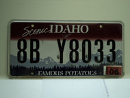 2009 IDAHO Scenic Famous Potatoes License Plate 8B Y8033