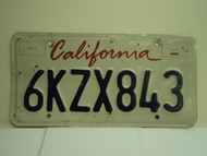 CALIFORNIA Lipstick License Plate 6KZX843