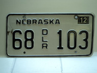 2004 NEBRASKA Dealer License Plate 68 DLR 103