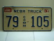 1996 NEBRASKA Commercial Truck License Plate 79 Comm 105