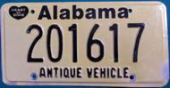 Alabama Antique Vehicle License Plate 201617 HOD