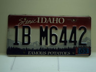 2010 IDAHO Famous Potatoes License Plate 1B M6442