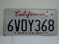 CALIFORNIA Lipstick License Plate 6VOY368