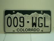 COLORADO License Plate 009 WGL