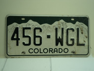 COLORADO License Plate 456 WGL