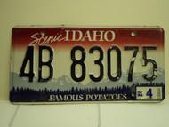 2002 IDAHO Famous Potatoes License Plate 4B 83075
