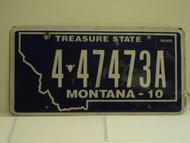 2010 MONTANA Treasure State License Plate 4 47473A