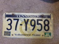 1980 May Tennessee 37-Y958 License Plate