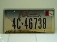 2008 MONTANA Big Sky License Plate 4C 46738