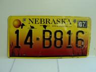2004 NEBRASKA License Plate 14 B816