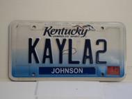 2013 KENTUCKY VANITY License Plate KAYLA 2