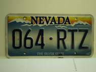 NEVADA Silver State License Plate 064 RTZ