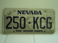 NEVADA Silver State License Plate 250 KCG