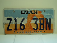UTAH Life Elevated License Plate 316 ZBN
