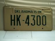 1981 OKLAHOMA is OK License Plate HK 4300