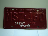 1970 MICHIGAN Water Winter Wonderland License Plate MSZ 460