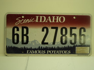 IDAHO Scenic Famous Potatoes License Plate 6B 27856