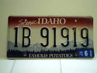 2007 IDAHO Famous Potatoes License Plate 1B 91919