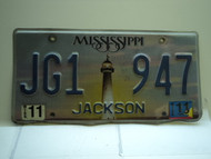 2011 MISSISSIPPI Lighthouse License Plate JG1 947