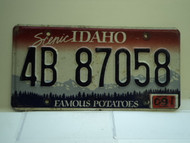 2009 IDAHO Famous Potatoes License Plate 4B 87058