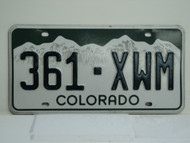 COLORADO License Plate 361 XWM