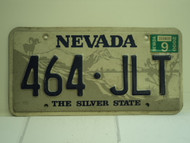 2000 NEVADA Silver State License Plate 464 JLT