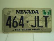 2000 NEVADA Silver State License Plate 464 JLT