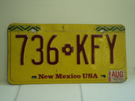 1998 NEW MEXICO Land of Enchantment License Plate 736 KFY