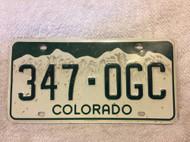 Colorado 347-OGC License Plate