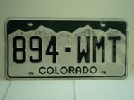 COLORADO License Plate 894 WMT
