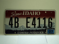2010 IDAHO Scenic Famous Potatoes License Plate 4B E4116