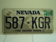 2000 NEVADA Silver State License Plate 587 KGR