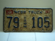 1995 NEBRASKA Commercial Truck License Plate 79 Comm 105