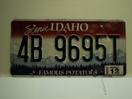 2008 IDAHO Scenic Famous Potatoes License Plate 4B 9695T