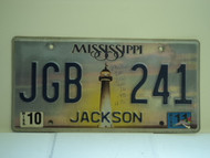 2011 MISSISSIPPI Lighthouse License Plate JGB 241