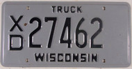 Wisconsin XD 27462 License Plate Truck