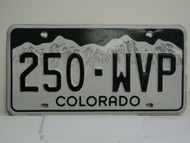 COLORADO License Plate 250 WVP