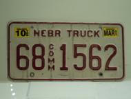 2003 NEBRASKA Commercial Truck License Plate 68 1562 1
