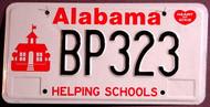 Alabama Helping Schools Kids License Plate 2