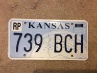 KANSAS Republic County License Plate 739-BCH
