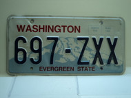 Washington Evergreen State License Plate 697 ZXX