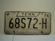 1976 TENNESSEE License Plate 68S72 H