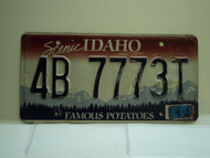 2010 IDAHO Famous Potatoes License Plate 4B 7773T