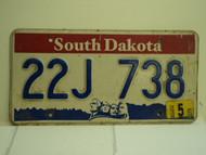2004 SOUTH DAKOTA Mount Rushmore License Plate 22J 738