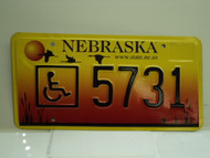 NEBRASKA Handicapped License Plate 5731